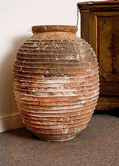 Greek Beehive Terracota Oil Jar