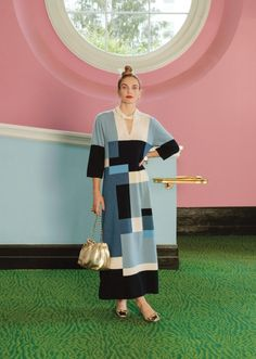 Andy Spade, Embroidery Shop, Jeweled Sandals, Swing Coats, Fall Looks, Bold Colors, Color Blocking, What To Wear, Hand Weaving