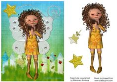 little star on Craftsuprint designed by Mishara Armenia - cute lil fairy copyrighted by Mishara Armenia - Now available for download!