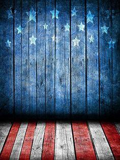 Rustic American Flag Backdrop Patriotic 4th Of July
