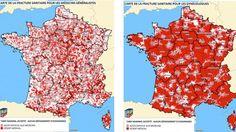 """#Accès aux soins : une carte de France de la """"fracture sanitaire"""" - Francetv info: Francetv info Accès aux soins : une carte de France de…"""