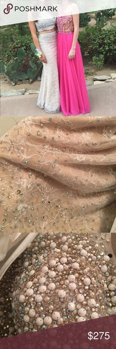 Cool Homecoming Dresses champagne sequined prom dress Gorgeous worn once. Sequin dress. Two piece. I&#39... Check more at http://24shopme.ml/fashion/homecoming-dresses-champagne-sequined-prom-dress-gorgeous-worn-once-sequin-dress-two-piece-i39/