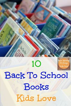 10 Back To School Books Kids Love including Pete the cat and Curious George {FSPDT}