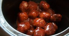 Creatively Domestic: Comfort Meatballs in the Crockpot
