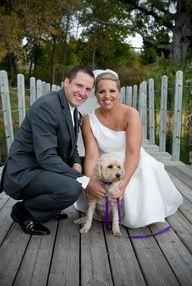 dog wedding photo