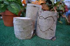 Aspen Tealight Heart Wedding Decor Aspen Wood Tea Candle by Sarqit