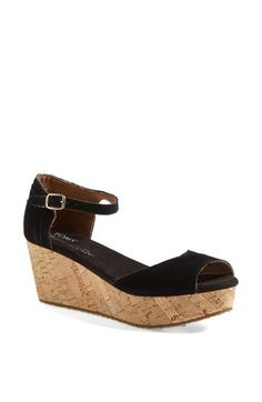 TOMS Platform Wedge Sandal (Women) available at #Nordstrom