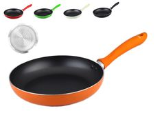 Non-stick Induction Frying Pan - ORANGE. Sizes: 24cm / 26cm / 28cm