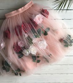 Skirt with roses – shop online on Livemaster with shipping - CWASXCOM | Murmansk Moulin Rouge, Tulle, Dress Up, Skirts, Costume, Tutu, Tulle Bows