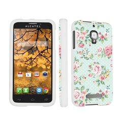 If she has a less popular phone, like an alcatel, skinguardz has some nice options to make it look nice. The safest ones to go with are probably the mint roses (pictured), or the sailor.