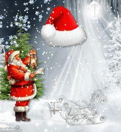 Winter Christmas, Christmas Wreaths, Beautiful Gifts, Santa Hat, Holiday Decor, Floral, Ring, Box, Animation