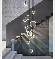 #light #chandelier #stairs #concrete #metal #glass #perfect #combination #circles #modern #interior #interiordesign #design #designer #inspiration #creative #art#architect#architecture#idea#tips#home#homedesign#innovative#new#grey#beautiful#decoration#photography