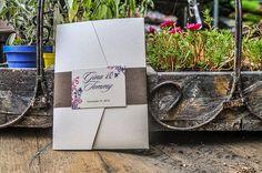 Pocketfold Wedding Invitation with Elegant Flourish Design by r3mg, $12.00