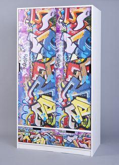 Simple Schrank Kleiderschrank Graffiti bemalt in Kriens kaufen bei ricardo ch Ideen rund ums Haus Pinterest Graffiti and Kunst