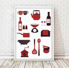 kitchen print modern kitchen art kitchenware by