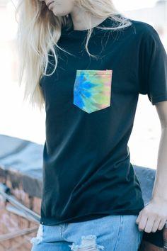Brandy ♥ Melville   Raven Tie-Dye Pocket Tee - Graphics
