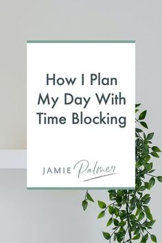 Time-blocking and chunking my time has proven incredibly effective for me to make sure that I get all the things done. Learn How I Plan My Day With Time Blocking! - #timeblocking Time Management Tools, Time Management Strategies, Business Tips, Online Business, Check Email, Online Entrepreneur, Digital Marketing Strategy, Up Girl, Productivity