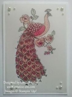 Creative Em: Non-Traditional Perfect Peacock from Stampin' Up! Perfect Peacock, Arts And Crafts Furniture, Bird Cages, Stamp Sets, Peacocks, Magnolia, Stampin Up, Card Ideas, Catalog