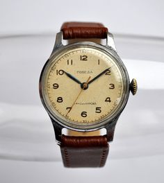Vintage Soviet mechanical wristwatch POBEDA