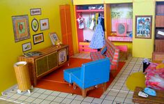 Barbie's Dream House.... I had one of these growing up.  It was given to me for my birthday.  I played with this dream house all the time.