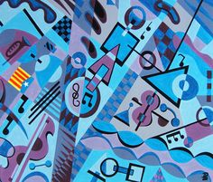 Homenaje a Pau Casals Acrílico sobre cartón 65x80