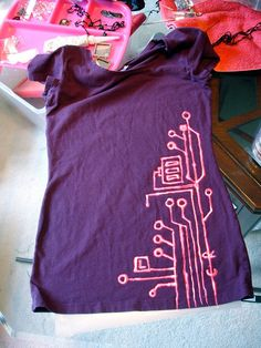 Circuitry bleach pen t-shirt ... maybe for some of Aurora's plain colored onezies
