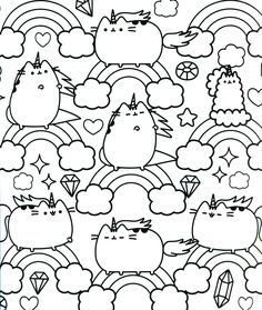 Pusheen 04 Pusheen Coloring Pages Free Printable Pusheen 04