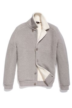 Loro Piana Norquay cashmere cardigan jacket; price upon request.