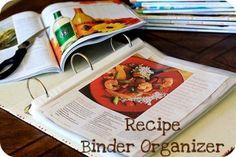 recipe binder organizer.