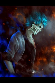 nanfe:  bleach 624: release the blue beast  can you hear that?that's the sounds of million fangirls screams (including me, and I'm not even Grimmjow's fan) after Bleach 624, I mean, goddamn look at that smexy beast, hí hí hí hí, welcome back sexay Espada!!!since it's been ages I havent done any Bleach fanarts, here is a gift for you guys.linesketch and fullsize of this painting (2000x2500 pixels) available through my patreon (oh man, I know this will ruin the mood, but from now on, you will…