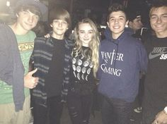 Photo: Sabrina Carpenter With Bradley Steven Perry, Corey Fogelmanis, Jake Short