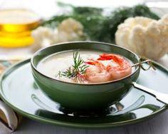 Velouté de chou-fleur aux crevettes : http://www.fourchette-et-bikini.fr/recettes/recettes-minceur/veloute-de-chou-fleur-aux-crevettes.html
