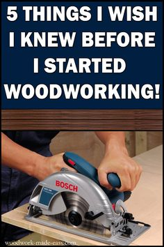 How to get started in Woodworking! – Woodwork Made Easy Learn about finding good plans, wood types, saving money on lumber, what tools you need for woodworking, and workbench tips so you won't make the same mistakes I did! Beginner Woodworking Projects, Woodworking Crafts, Woodworking Tools, Woodworking Furniture, Woodworking Jigsaw, Popular Woodworking, Woodworking Equipment, Woodworking Techniques, Carpentry Projects