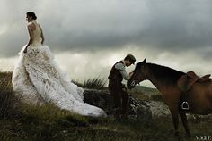 Love this Grace Coddington styled photo shoot in Vogue.