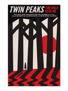 Twin Peaks Poster, Dale Cooper in the Woods, Black Lodge of Twin peaks