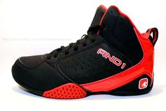AND1 Boys Mid Basketball/Athletic Shoes Sneakers FURY Black/Red New with Box  #AND1 #AthleticMidBasketballShoesSneakers