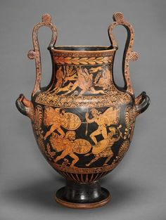 Attributed to Choephoroi Painter Greek (360 - 330 BC) Lucanian Red-figure Nestoris, 340-320 BC Vessel