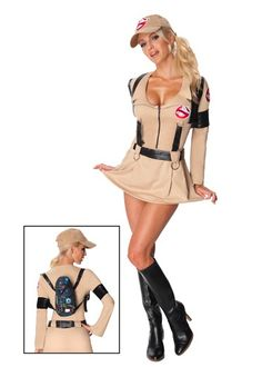 Ghostbusters Halloween Costume.  Sexy and clever costume!  Just one of a few funny Halloween costume ideas.
