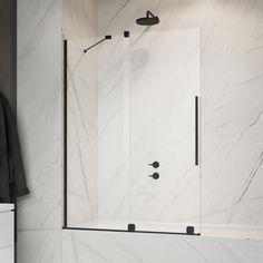 @lazienki_inspiracje Parawan nawannowy ze skrzydłem przesuwnym Radaway Furo Black PND II. ------------------- #radaway #dreambathroom #budowadomu #inspiracjelazienkowe #budowadomu #bathroomdesign #whitehome #instapic #bathproducts #instadecor #interiorstyle #inspiracja Bathtub, Bathroom, Instagram, Home Decor, Standing Bath, Washroom, Bathtubs, Decoration Home, Room Decor