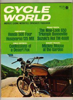 Cycle World May 1971 Vintage Motorcycle Magazine Triumph Bonneville Husqvarna
