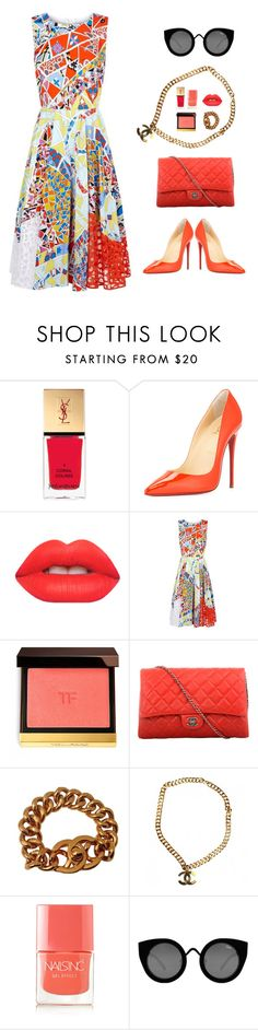 """""""Untitled 25"""" by hm83 ❤ liked on Polyvore featuring Yves Saint Laurent, Christian Louboutin, Lime Crime, Emilio Pucci, Tom Ford, Chanel, Nails Inc. and Quay"""