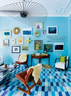 The most beautiful gallery walls from the pages of Vogue Living: The eclectic home of the creatives behind Popham Design.