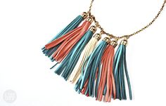 I Try DIY: Leather Tassel Necklace