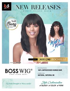 Bobbi boss Bobbi Boss Hair, Soft Bangs, 100 Human Hair Wigs, Remy Hair Extensions, Perm, Color Show, Natural Hair Styles, Braids, Hair Beauty