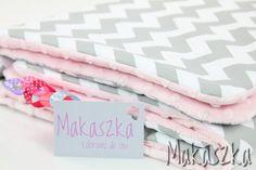 Minky-Set: Decke 75x100, Kopfkissen 30x40 Bettw... von Makaszka auf DaWanda.com