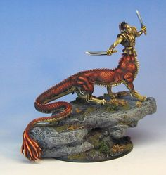 James Wappel Miniature Painting: Dragon Dude... Ral Partha perhaps?  I like the scales on this one.