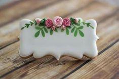 Decorated cookie, roses Flower Sugar Cookies, Rose Cookies, Fruit Cookies, Mother's Day Cookies, Iced Sugar Cookies, Fancy Cookies, Vintage Cookies, Easter Cookies, Birthday Cookies
