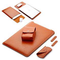Pu Leather Laptop Case Set