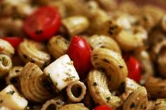 caprese pasta salad #capresesalad #pastasalad #pasta #tomato #mozzarella #basil by john