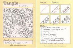 MomZenArtist: My new tangle: Feesh by Emily Classon, Certified Zentangle Teacher